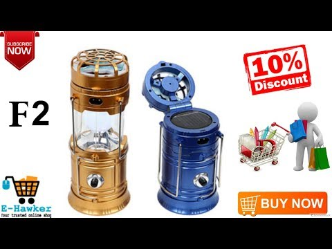 Solar Rechargeable Flashlight LED Camping Lantern with Fan-F4-01636474934