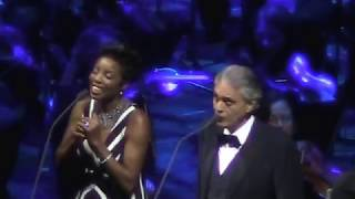 Andrea Bocelli and Heather Headley -The prayer (Live Dec 2017 in Chicago)