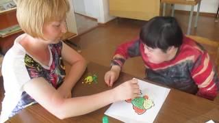 Аппликация из салфеток для детей с ограниченными возможностями