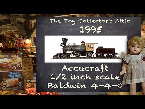 Accucraft's First Brass Locomotive - 3 Foot Gauge Baldwin 4-4-0 American