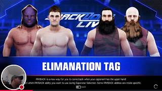 WWE2K19 Gameplay: The Bludgeon Brothers Vs Cole Quinn & El Mago