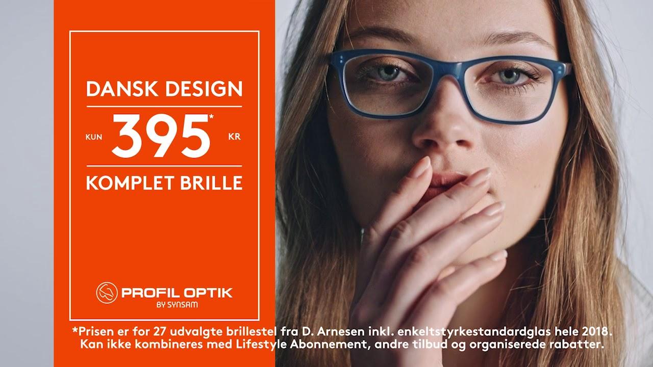 76779ebbfc41 Komplet brille fra D. Arnesen - Kun 395 kr. Profil Optik