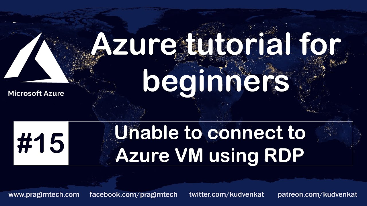 Unable to connect to azure VM using RDP