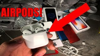 FOUND AIRPODS APPLE STORE DUMPSTER DIVING!! Free Airpods from the Apple Store!