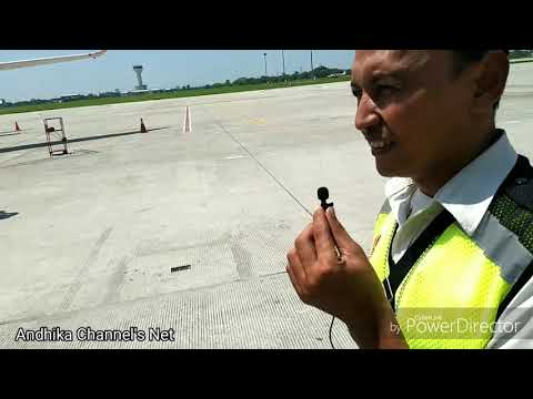 Aviavlog-Petugas GSE,Persiapan Sebelum Pesawat Mendarat Dan Parkir