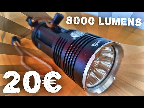 Lunaris2142 Teste Une Lampe Torche 10 Led Crazyfire 8000 Lumens Youtube