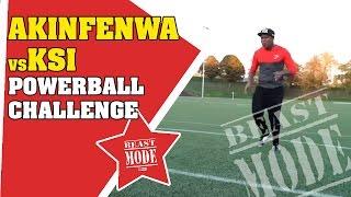 Akinfenwa vs KSI | Power Ball Challenge