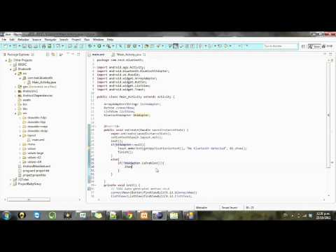 Android development Tutorial Bluetooth - 3
