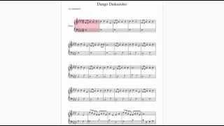Partitura Dango Daikazoku - Clannad | Violin y Piano