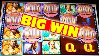 BIG WIN!!!  HERCULES RESCUES VEGAS LOW ROLLER FROM THE EVIL BUFFALO