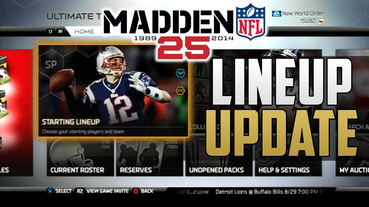 madden ultimate team lineup update short pass madden 25 ultimate team lineup update 1 99 short pass chemistry