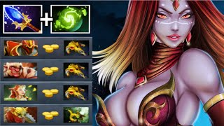 EPIC Pure Damage Pro Lina Mid vs BKB Hard Late Game Heroes Most Craziest Kamehameha 7.22 Dota 2