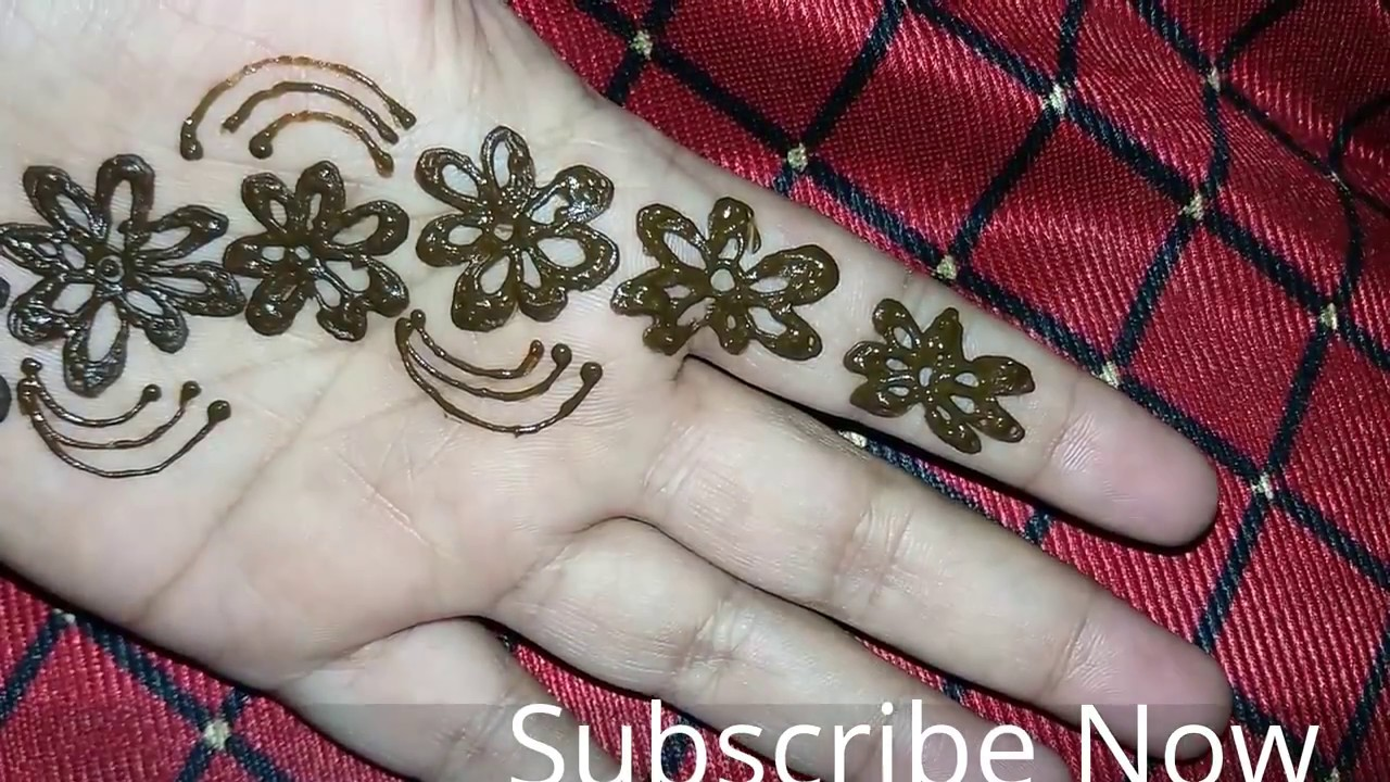 Flower Stickers Mehndi : Simple flower mehandi design for hands floral heena on hand easy