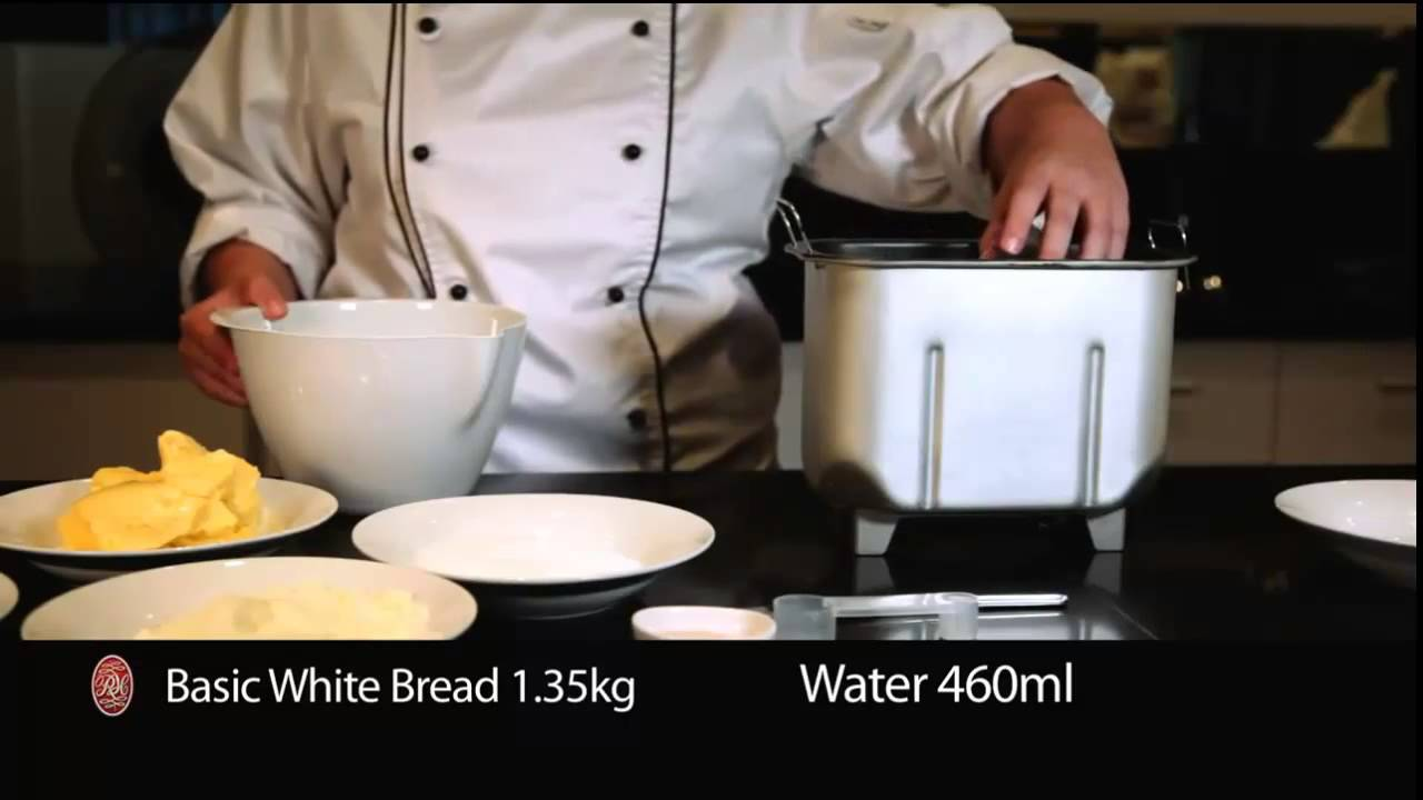 How to bake a white bread loaf with the Russell Hobbs breadmaker
