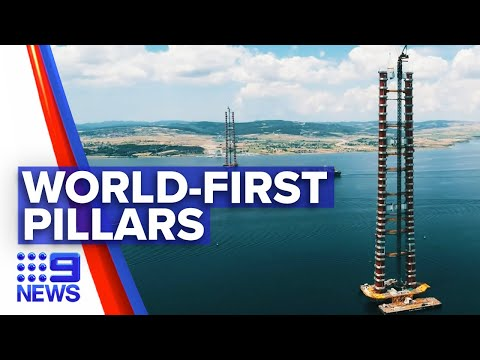 Sydney company completes world-first pillars | 9 News Australia