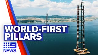 Sydney company completes world-first pillars | 9 News Australia
