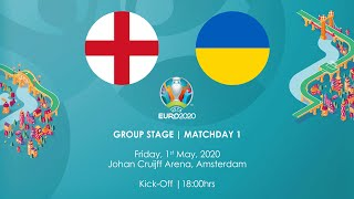 Virtual Euro 2020 Group A England vs Ukraine
