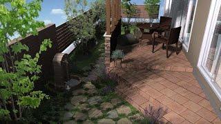 ガーデンテラス(LIXIL:ココマ)のある、イングリッシュガーデン。 アンテ...