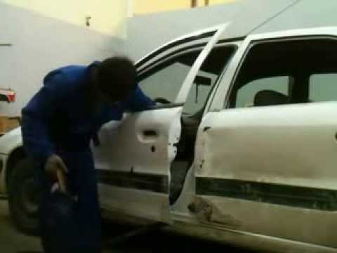 Panel Beating of Cars:Repair & Paint accident damaged of Citroen Xsara part 1 of 3
