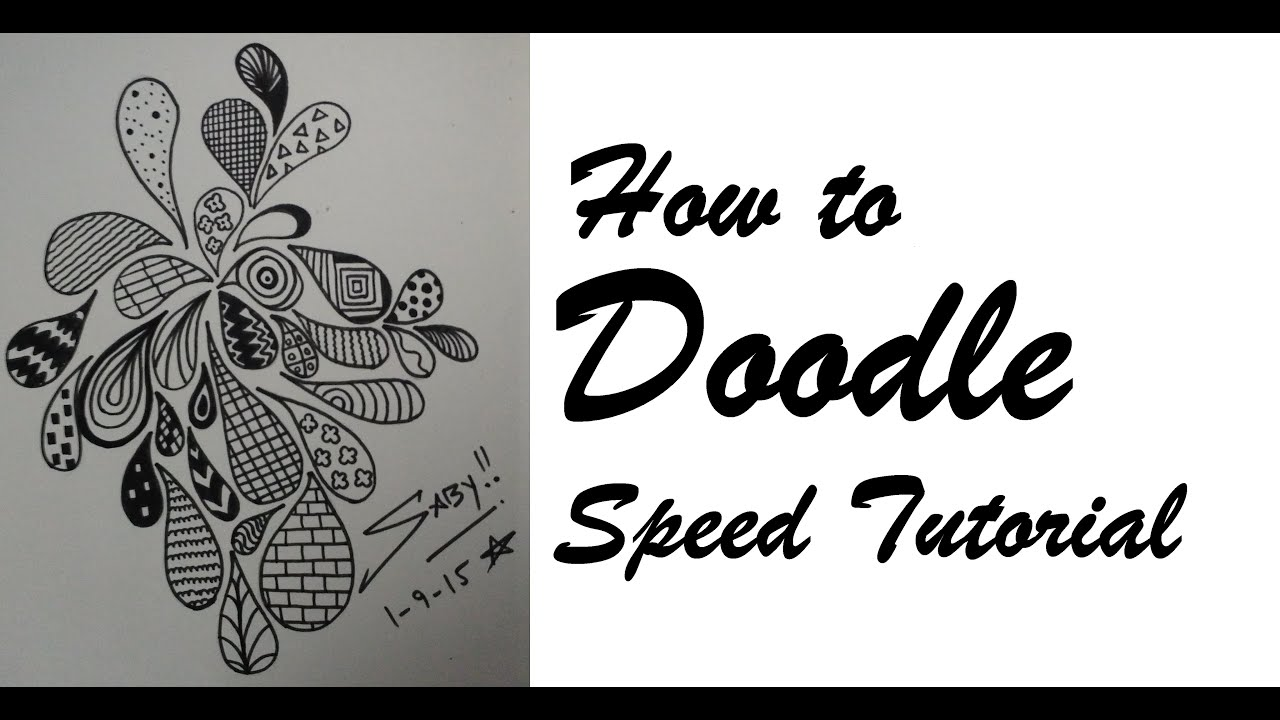 how to draw doodle art for beginners easy simple doodling speed tutorial design step by step youtube