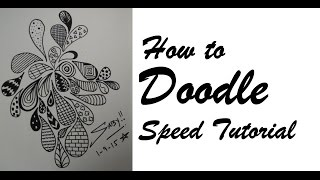 How To Draw Doodle Art For Beginners, Easy & Simple Doodling Speed Tutorial Design, Step by Step