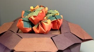 How To Make An Origami Bowl Full Of Persimmon