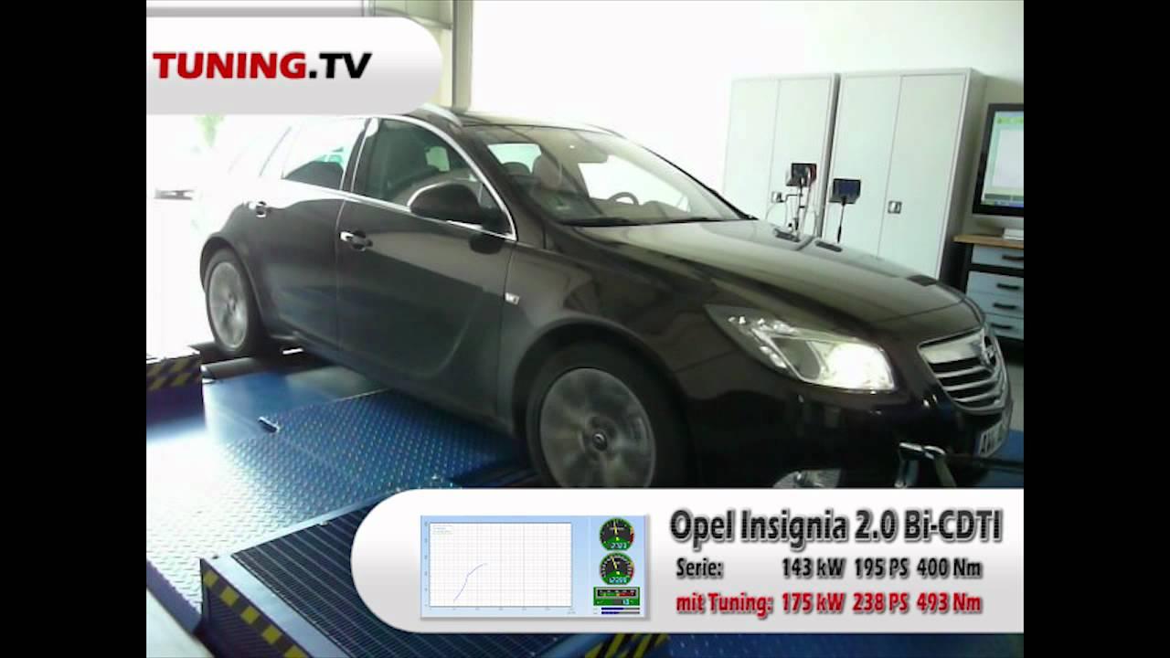 opel insignia 2.0 cdti bi-turbo mit speed-buster chiptuning auf dem