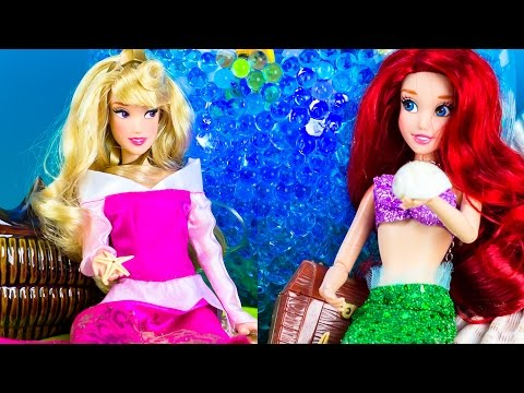 ARIEL & AURORA Find GIANT ORBEEZ TREASURE in a MAGIC ORBEEZ POOL! PlANET ORBEEZ PLP TV