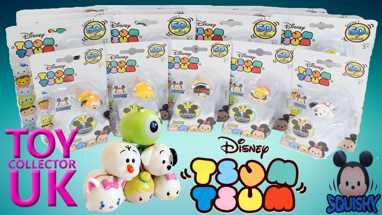 Disney Tsum Tsum Para Colorear Buzz Lightyear: Disney Squishy Tsum Tsum 17 Blind Boxes! Tsum Tsum