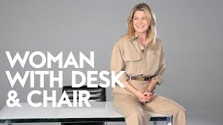 Ellen Pompeo On Owning Your Shit | Woman with Desk and Chair | InStyle