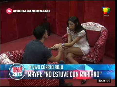 #GH2015: Maypi entró al cuarto rojo para evitar que Nico se fuera