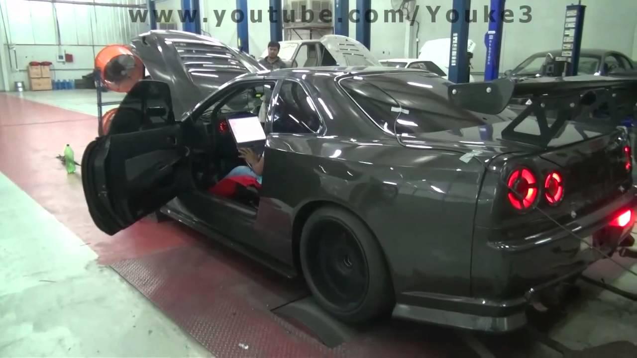 R34 GTR Dyno Test   Future Racing   YouTube