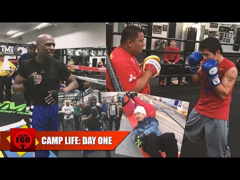 MAYWEATHER VS PACQUIAO CAMP LIFE: DAY ONE + NEWS CONFERENCE UPDATE