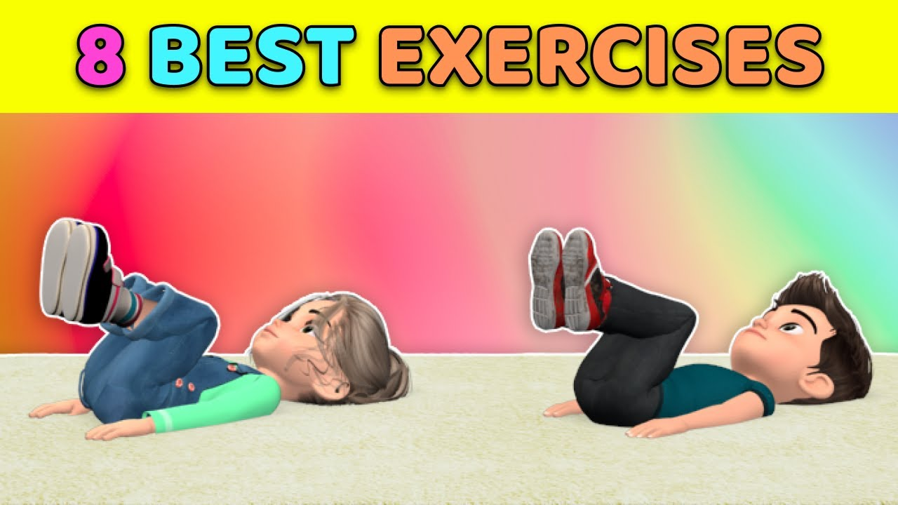8 Best Kids Exercises For Belly Fat //Home Workout