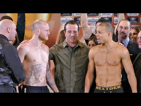George Groves vs Chris Eubank Jr WEIGH IN & FACE OFF | Super Series Semi Final