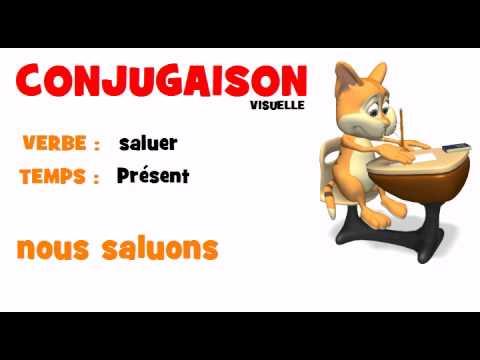 Conjugaison Saluer Present Youtube