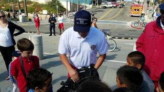 Kids Learning about Rescue Equipment from LA Fire Department Lifeguard