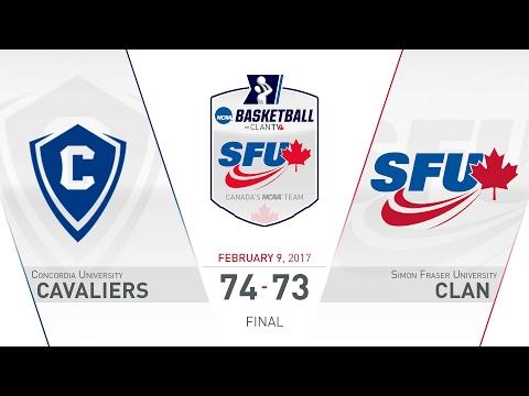 SFU Clan Men's Basketball: SFU vs. CU - February 9, 2017