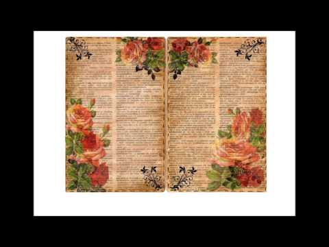 Vintage Printable Floral Book Pages Etsy