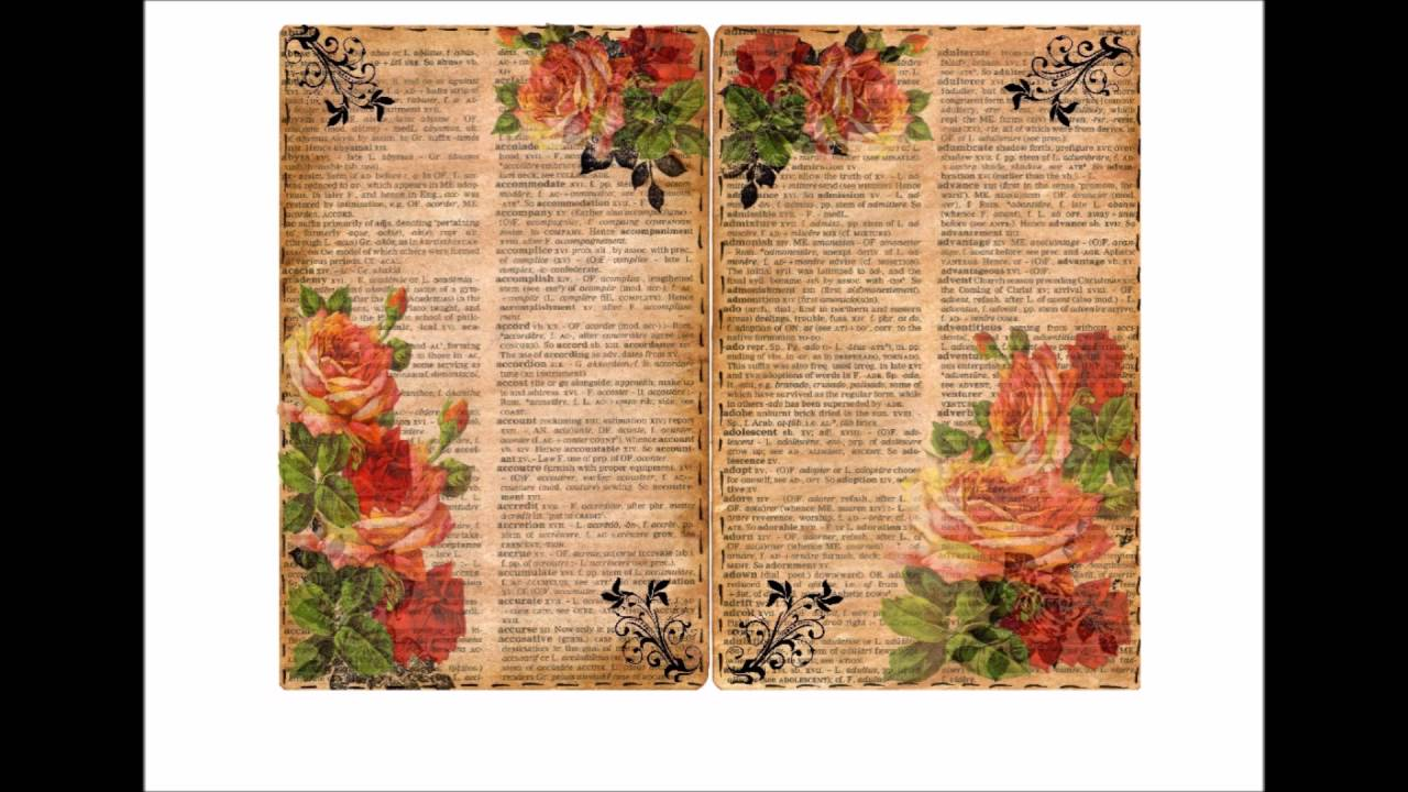 graphic regarding Vintage Book Pages Printable titled Traditional Printable Floral E-book internet pages ETSY