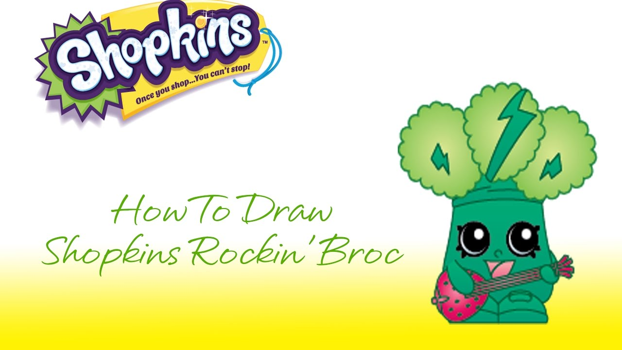 how to draw shopkins rockin broc youtube