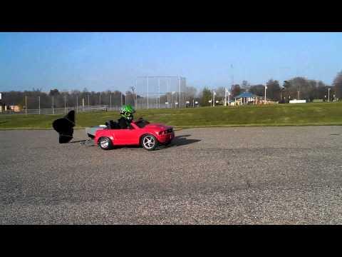 Power Wheels Parachute Test
