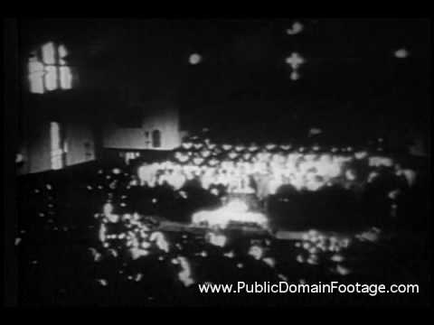 Martin Luther King Funeral archival footage