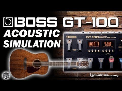 BOSS GT-100 Acoustic Simulator / Simulador Acústico [Patch Settings].