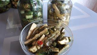 """Огурцы """"Пальчики оближешь"""" салат на зиму! Очень вкусный!"""