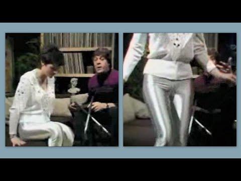 Sheena Easton wearing silver disco pants in 1981