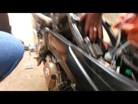 UNI Air Filter Bajaj Pulsar 200ns ..UNI . Power Filter  Installation And Sound Checking