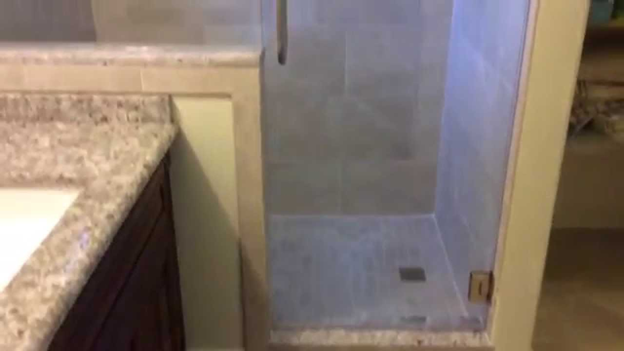 tile showers with glass doors. Small bathroom with tile shower and glass doors  YouTube