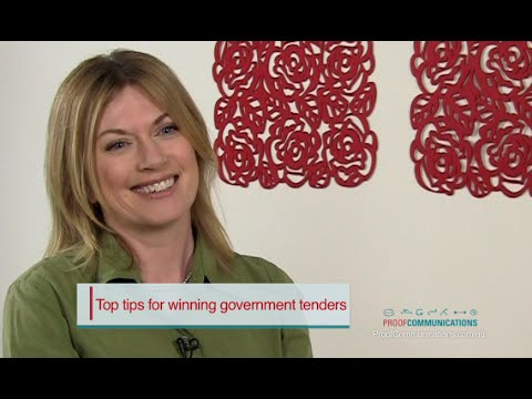 How to Write a Winning Government Tender | Proof Communications