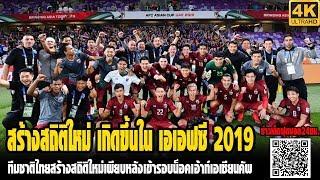 ทีมชาติไทยสร้างสถิติใหม่เพียบหลังเข้ารอบน็อคเอ้าท์เอเชียนคัพ